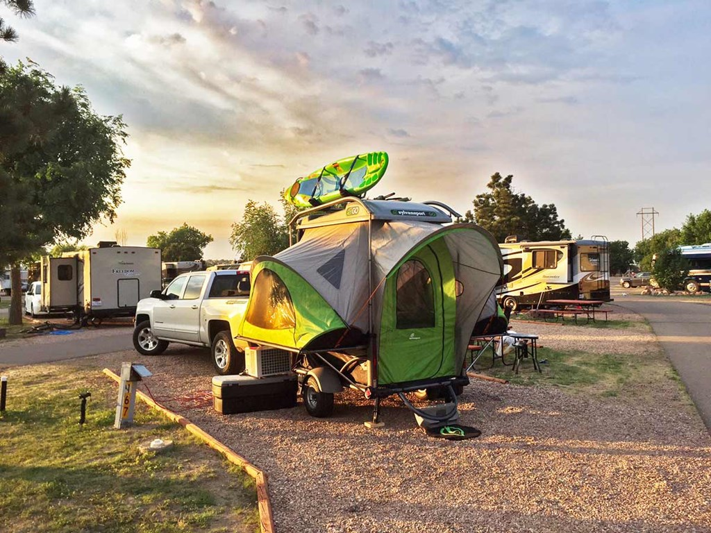 The SylvanSport Go at the Colorado Springs KOA