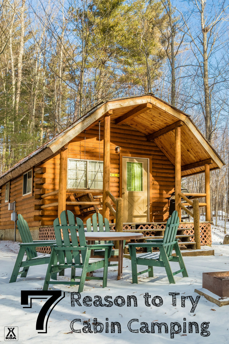 The winter months are the perfect time to try cabin camping - and here's why!