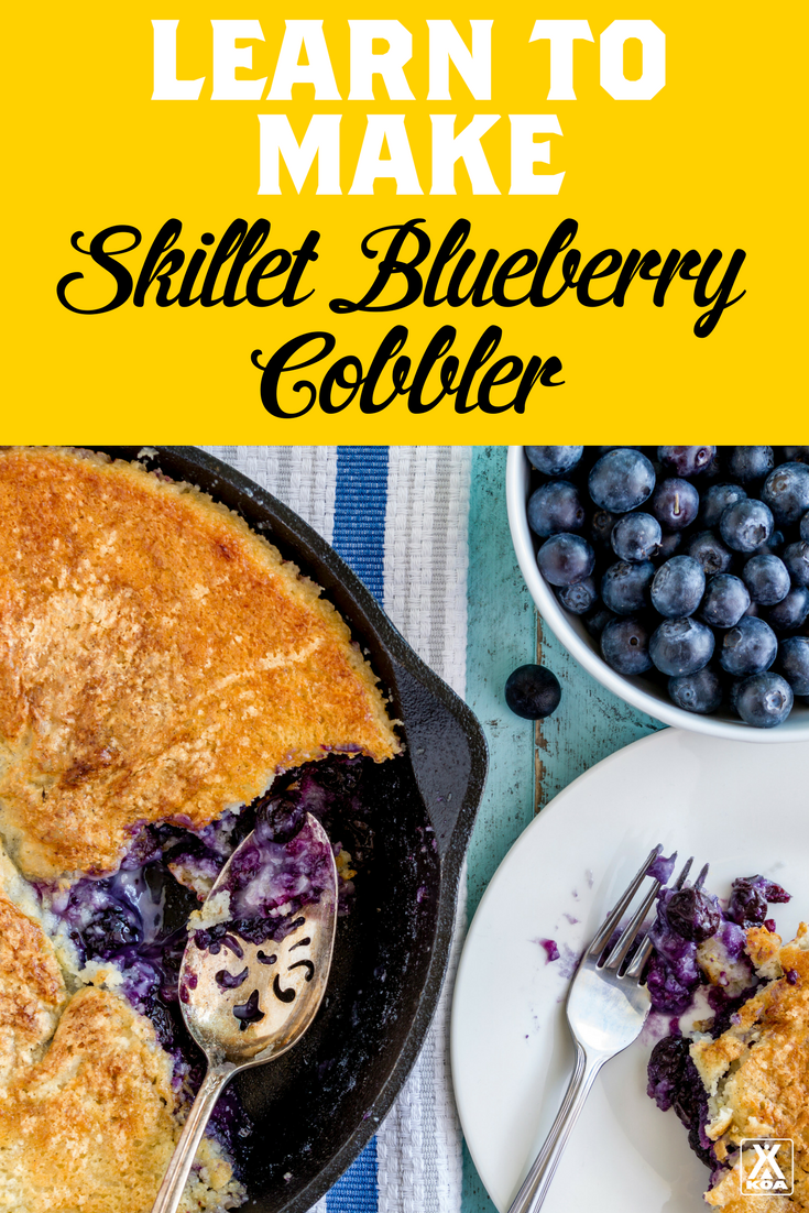 This Skillet Blueberry Cobbler is the Perfect Grilling Dessert!