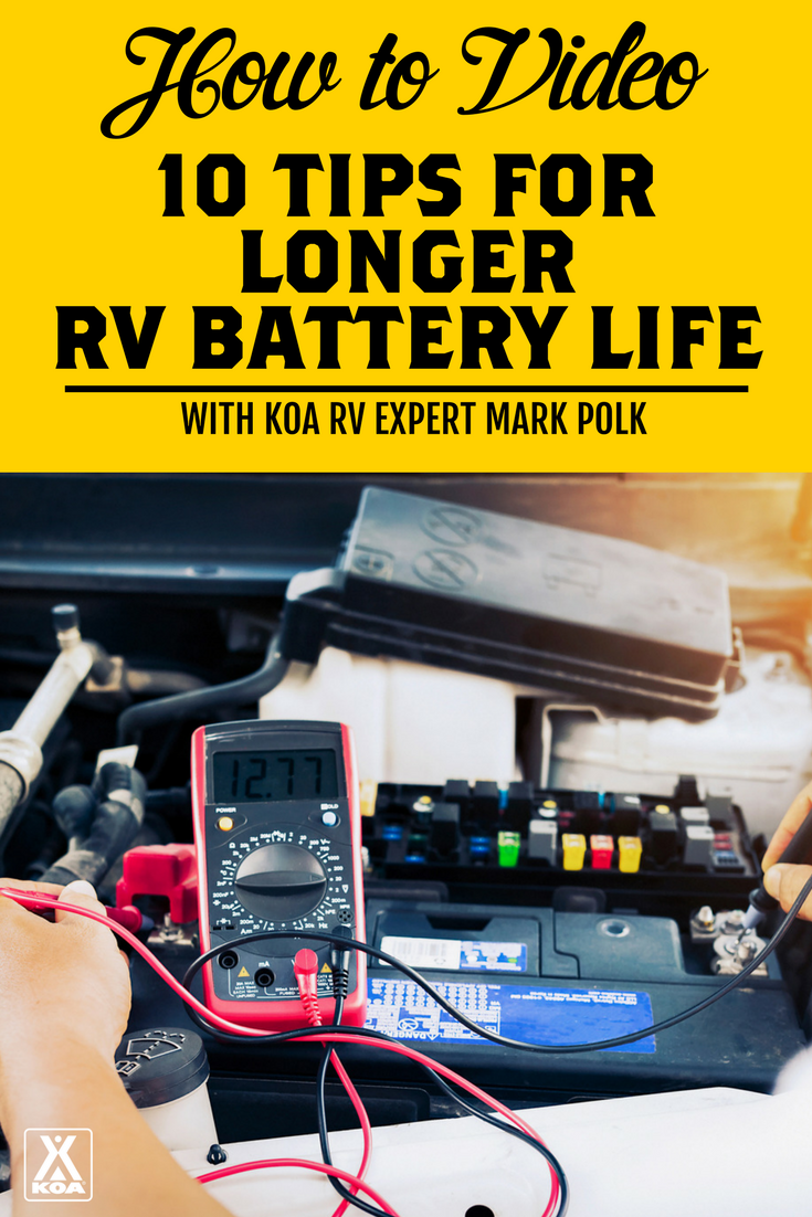 This video from an RV expert will help you extend the life of your RV batteries.