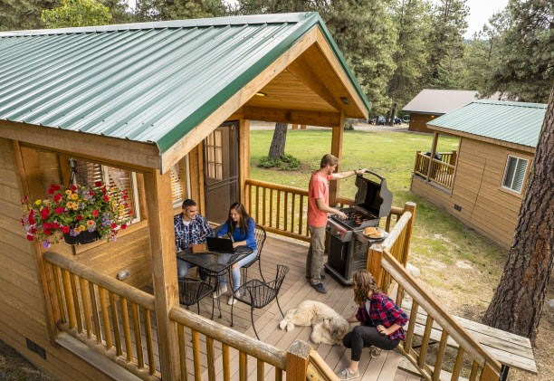 Try camping in a cabin at KOA