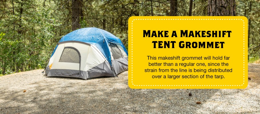 Use this camping hack to make a grommet in a pinch