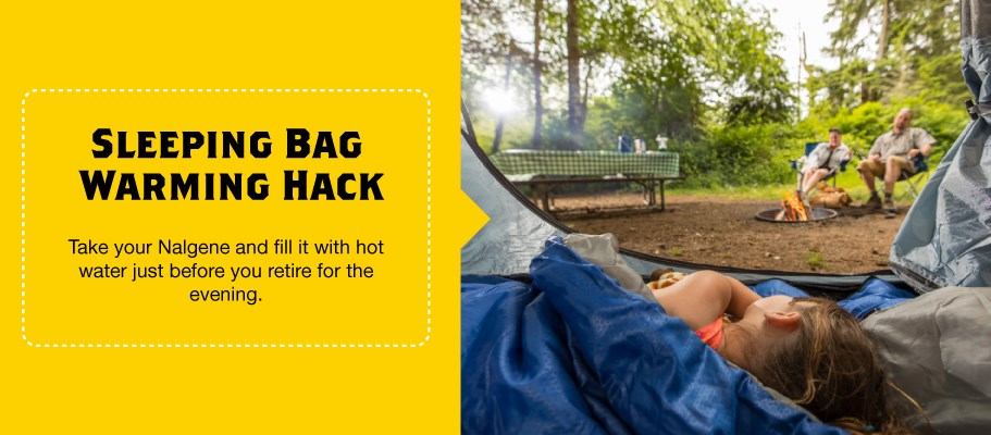 Warm Your Sleeping Back with this Camping Hack