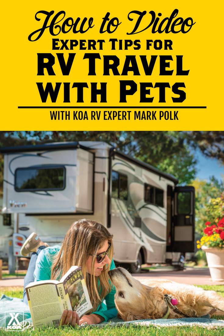 Watch this video to help make traveling with part by RV as comfortable as possible.