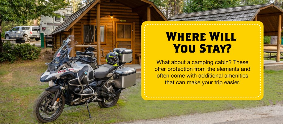 Where to Stay When Motorcycle Camping