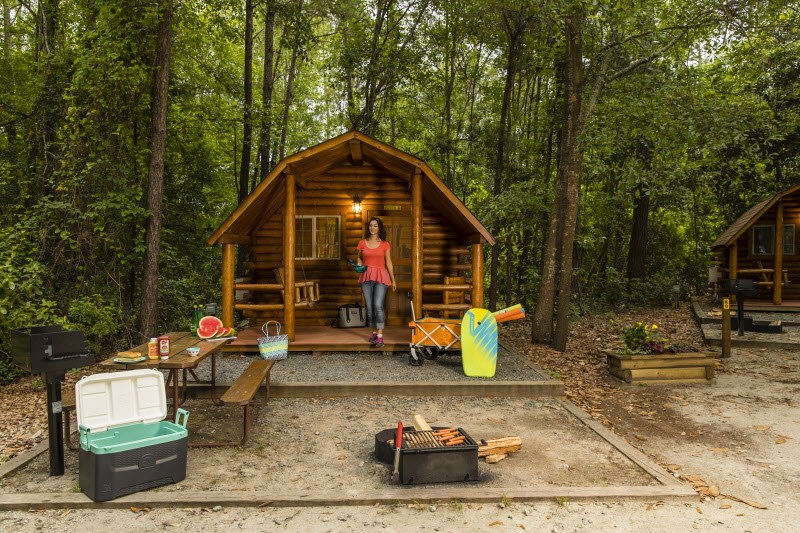 Try a Girls' Cabin Camping Weekend