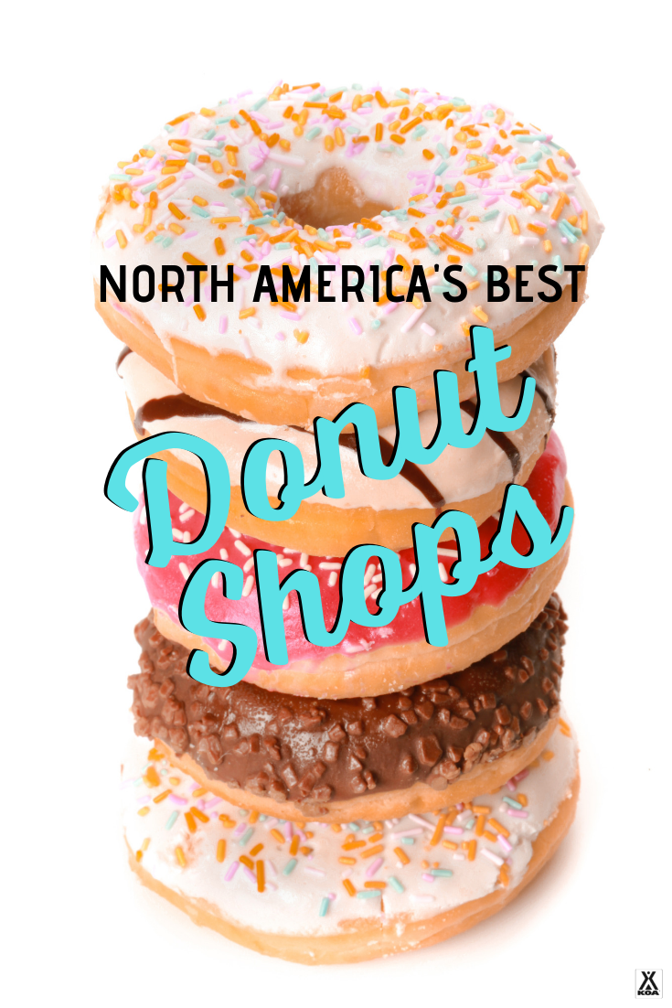 If you love the sweet stuff, then this list is for you! Check out the best stops for donuts in North America. These are North America's best donut shops. #donuts