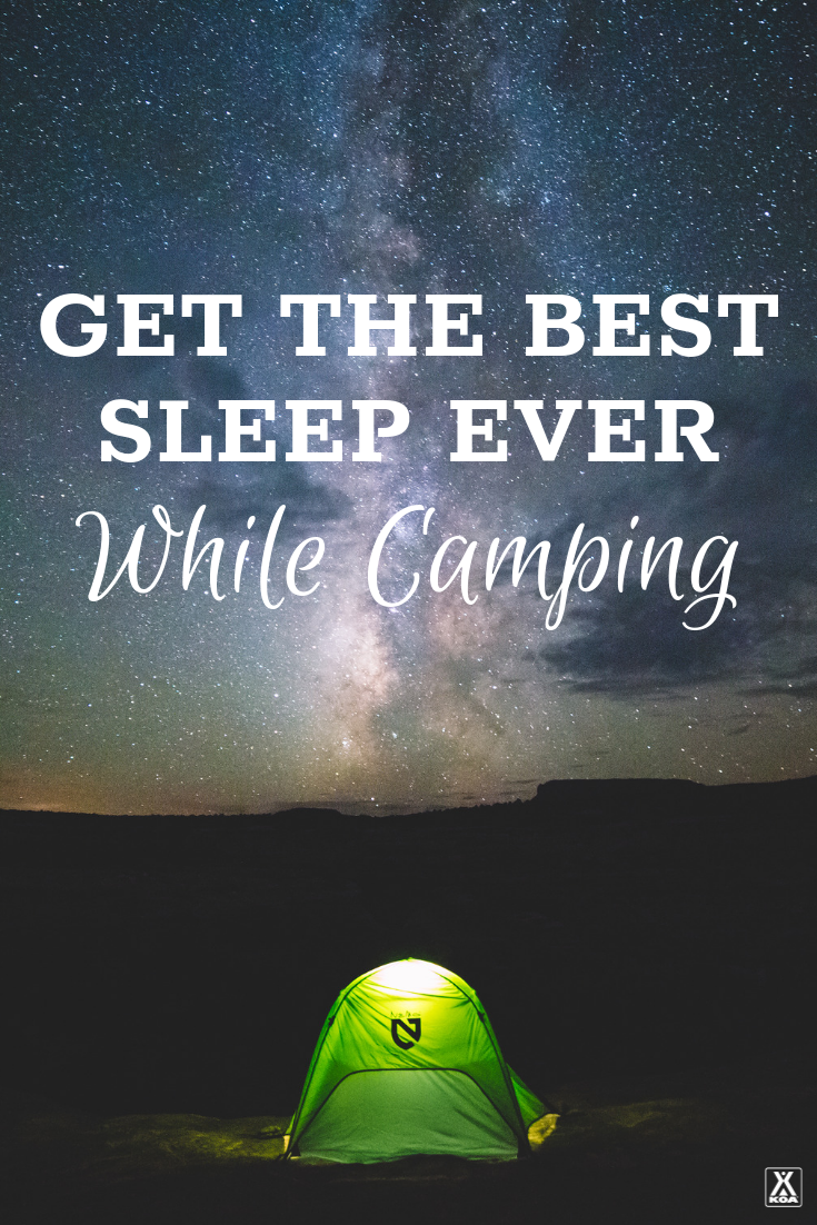 Get your best sleep ever in the great outdoors with these tips and tricks. #camping