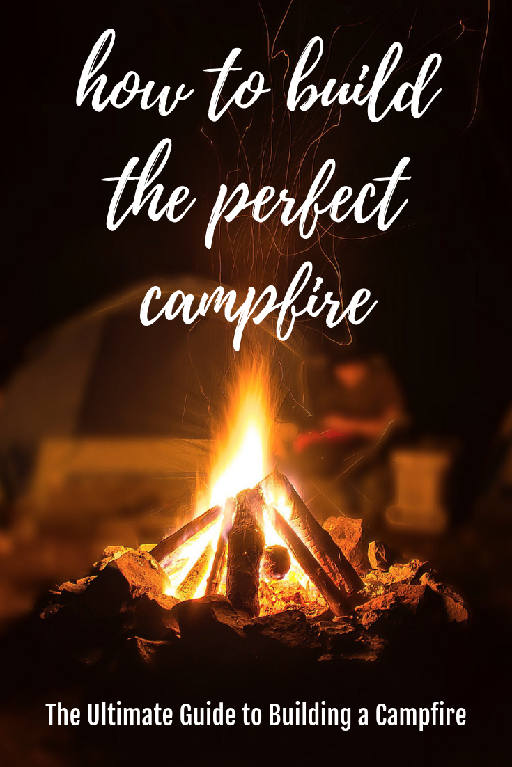 This is the ulimate guide for building the perfect campfire. #camping #campfire