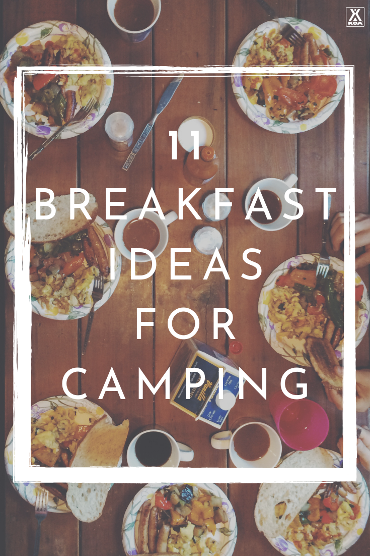 Try these great breakfast ideas for your next camping trip. #camping
