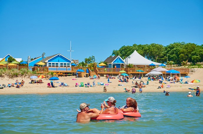 Located Right On The Beach Cape Charles Chesapeake Bay Koa Offers Guests A Truly Unique Camping Experience