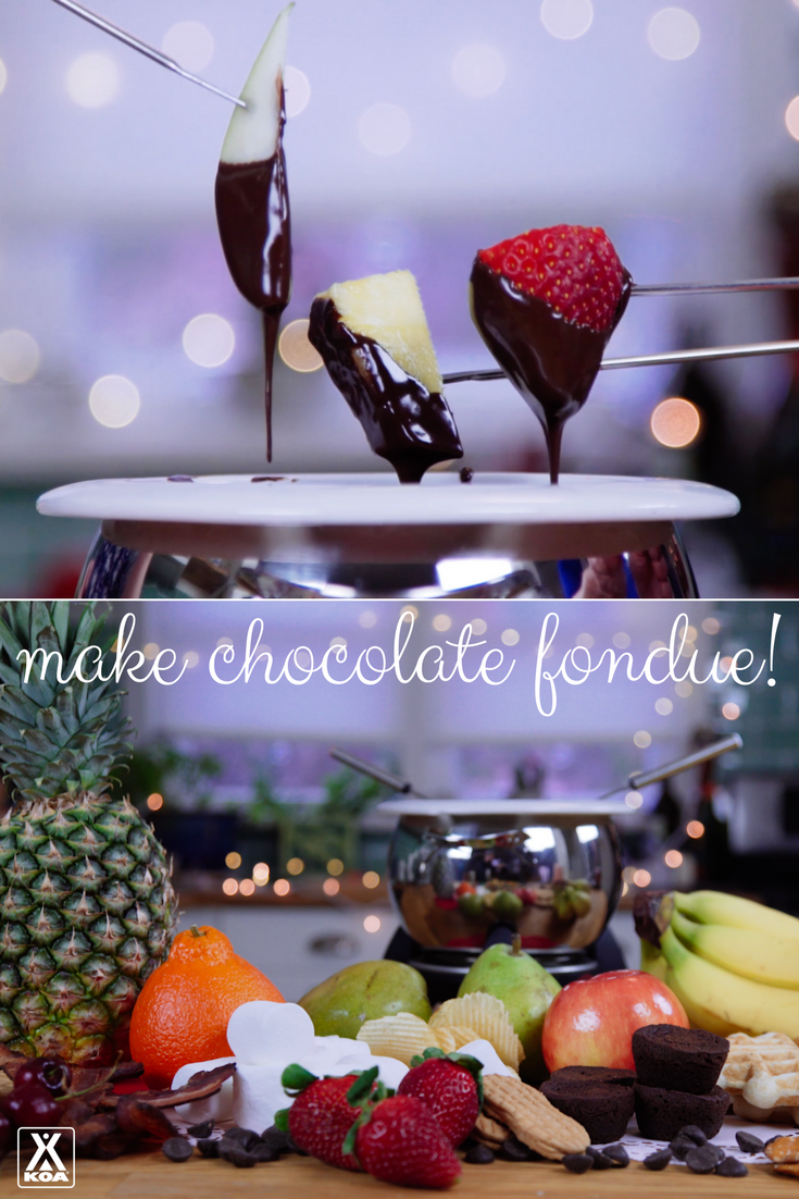 Watch our video to make chocolate fondue!