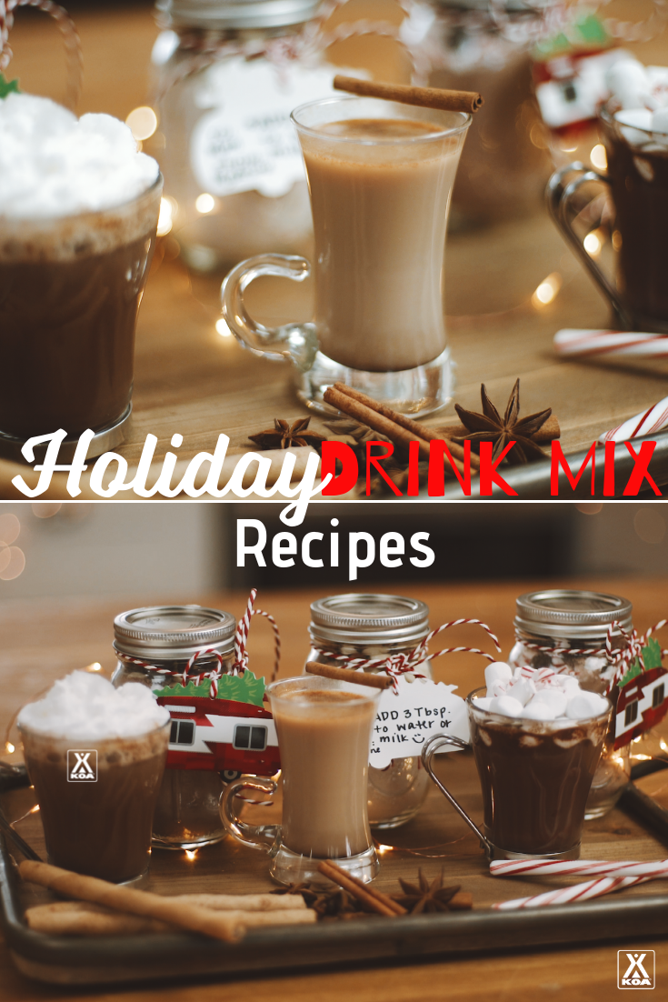 Make three holiday drink mixes