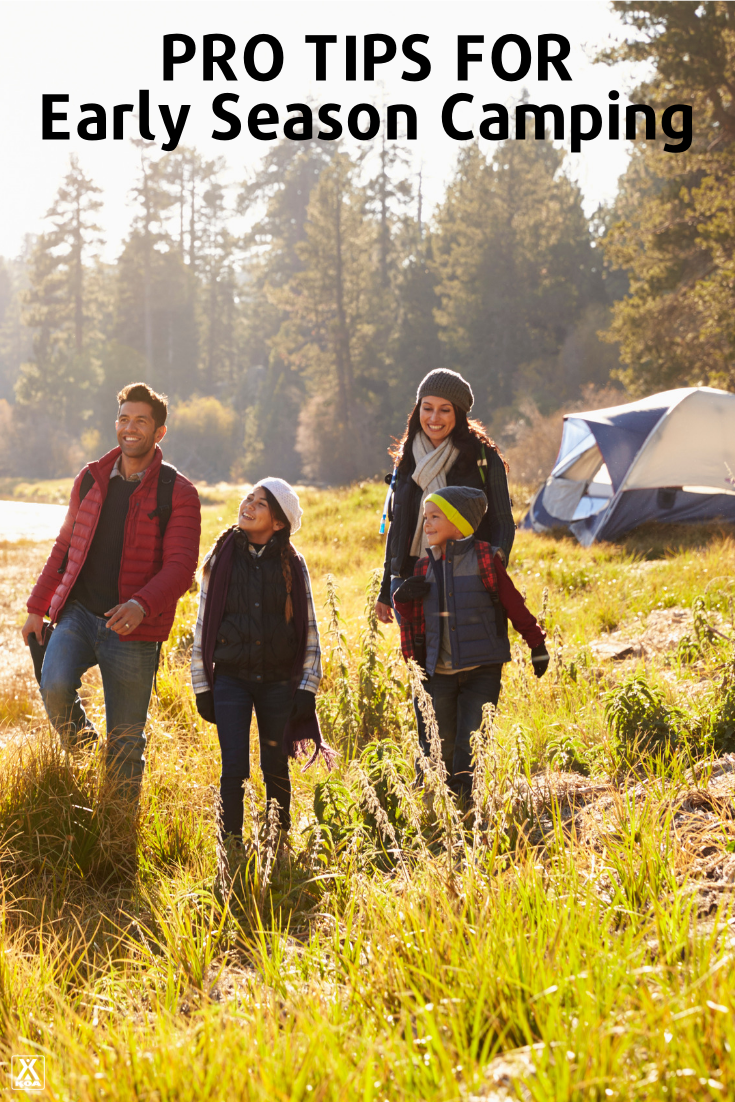 Camping early in the year can mean thinner crowds and lot of fun. These pro tips for early season camping are a must. #camping