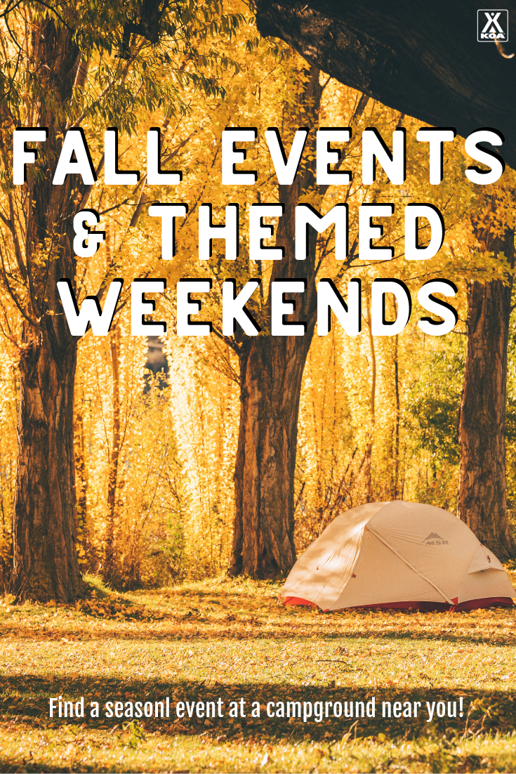 From hayrides to pumpkin carving to wine tastings, big things are happening at campgrounds this fall and winter! Check out our complete list of events and themed weekends taking place at KOA campgrounds across North America this fall.