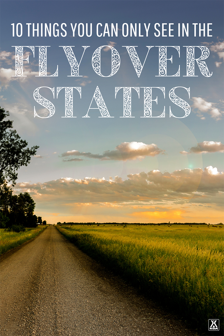 The flyover states are not to be ignored! From an extinct supervolcano to a cultural center founded by the Dali Llama's brother, here are 10 things you can only see in flyover states.