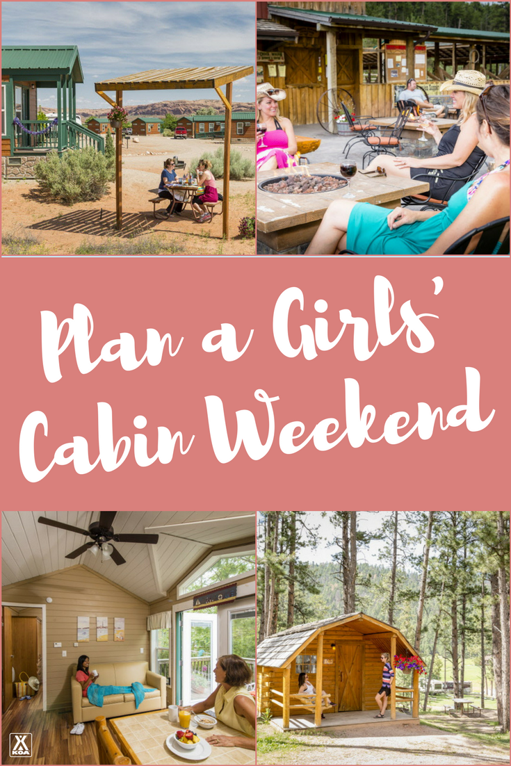 Plan a Girls' Cabin Camping Weekend!