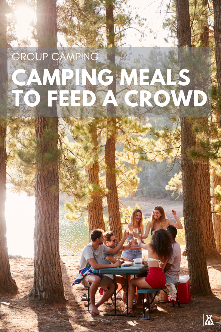 Feed a group with these easy camping meal ideas. #camping #campingfood