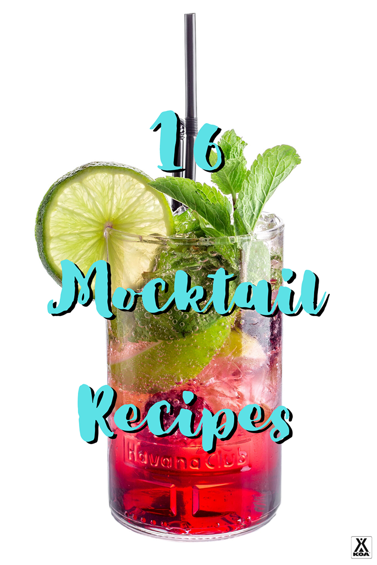 Mixing up a tasty drink doesn't require alcohol. Try some of our favorite mocktail recipes from virgin daiquiris to cool cucumber coolers. These 16 mocktails are sure to quench your thirst at your favorite campground or in your living room.