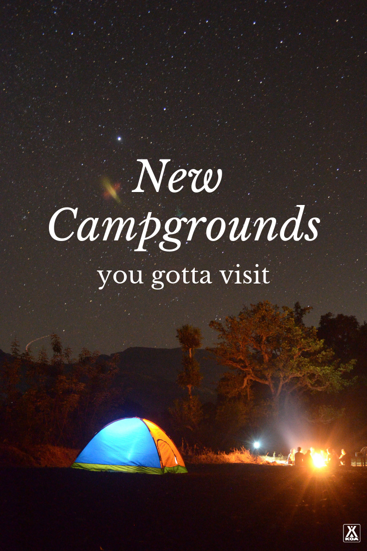 Visit these awesome new campgrounds on your next camping trip. #camp #camping #campground