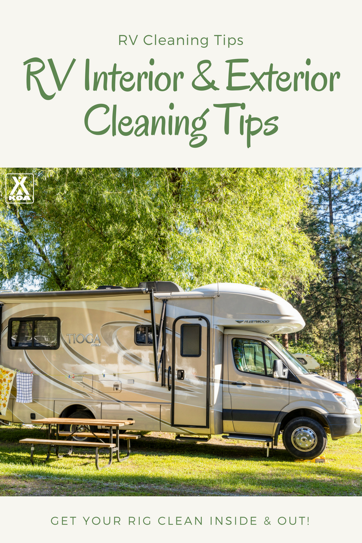 Use these tips to clean your RV