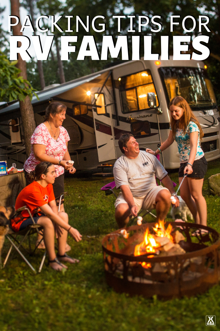 Packing for a family RV trip? You'll want to read these tips for packing for RV families.