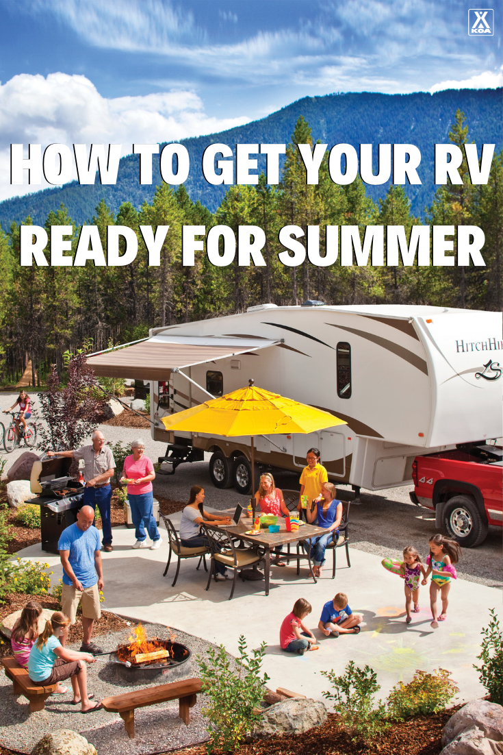 Get your RV ready to roll for summer fun with these tips and tricks. #RV #RVing #GORVing