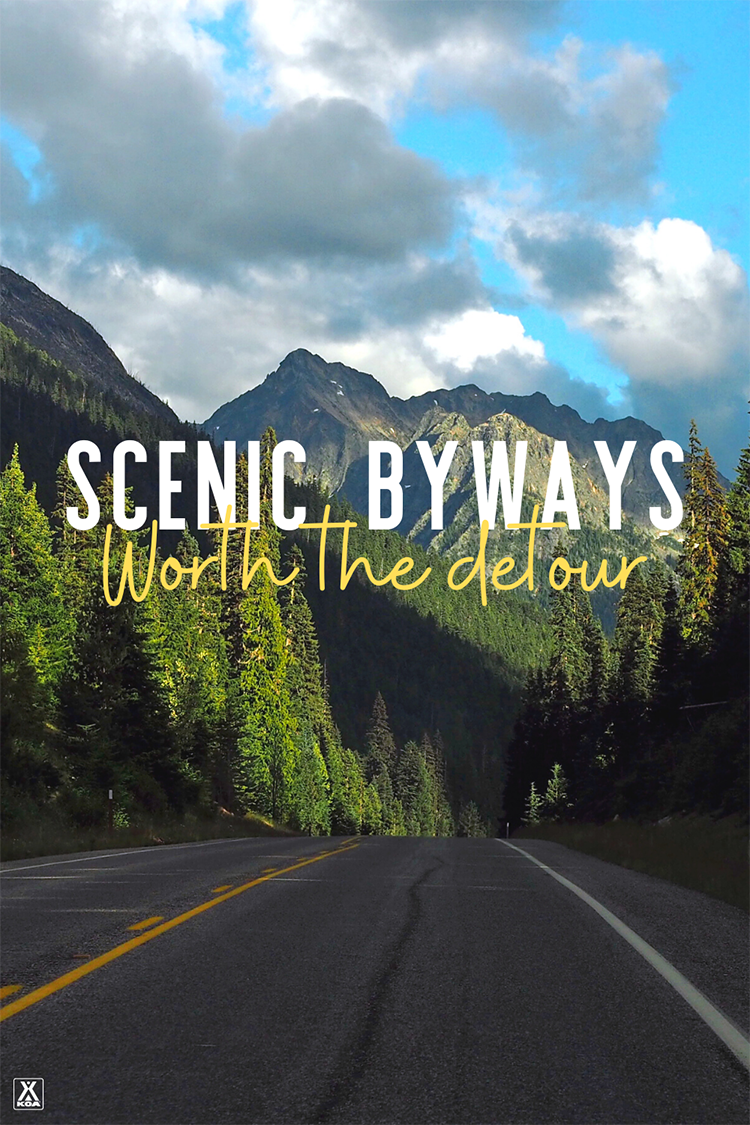 Get off the beaten path and give one of these scenic byways a try on your next road trip. Whether you're looking for epic mountains or rolling dunes, you'll find lots to see on our list of nine scenic byways.