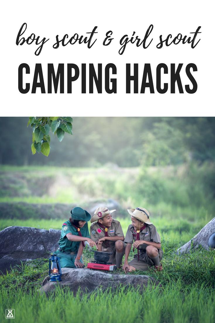 10 Camping Hacks To Borrow From The Boy Scouts Girl Scouts Koa