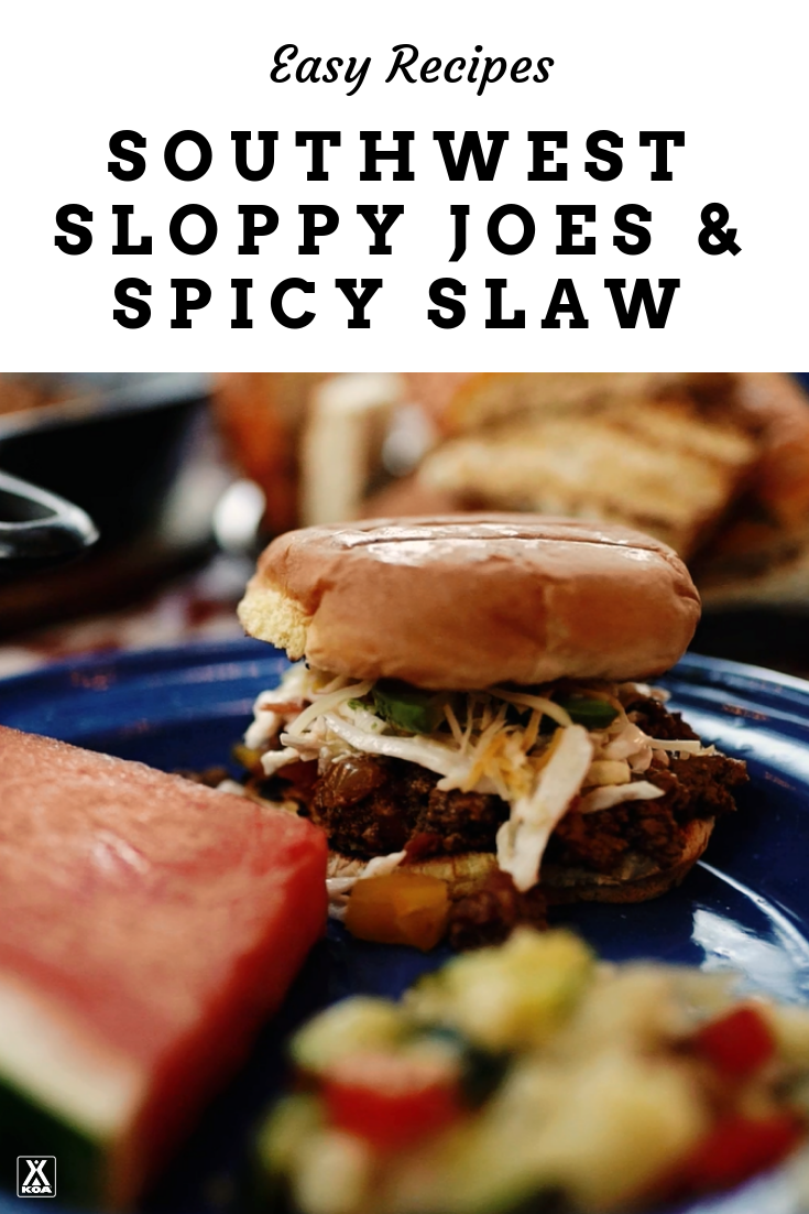 Make Southwest Sloppy Joes & Spicy Slaw