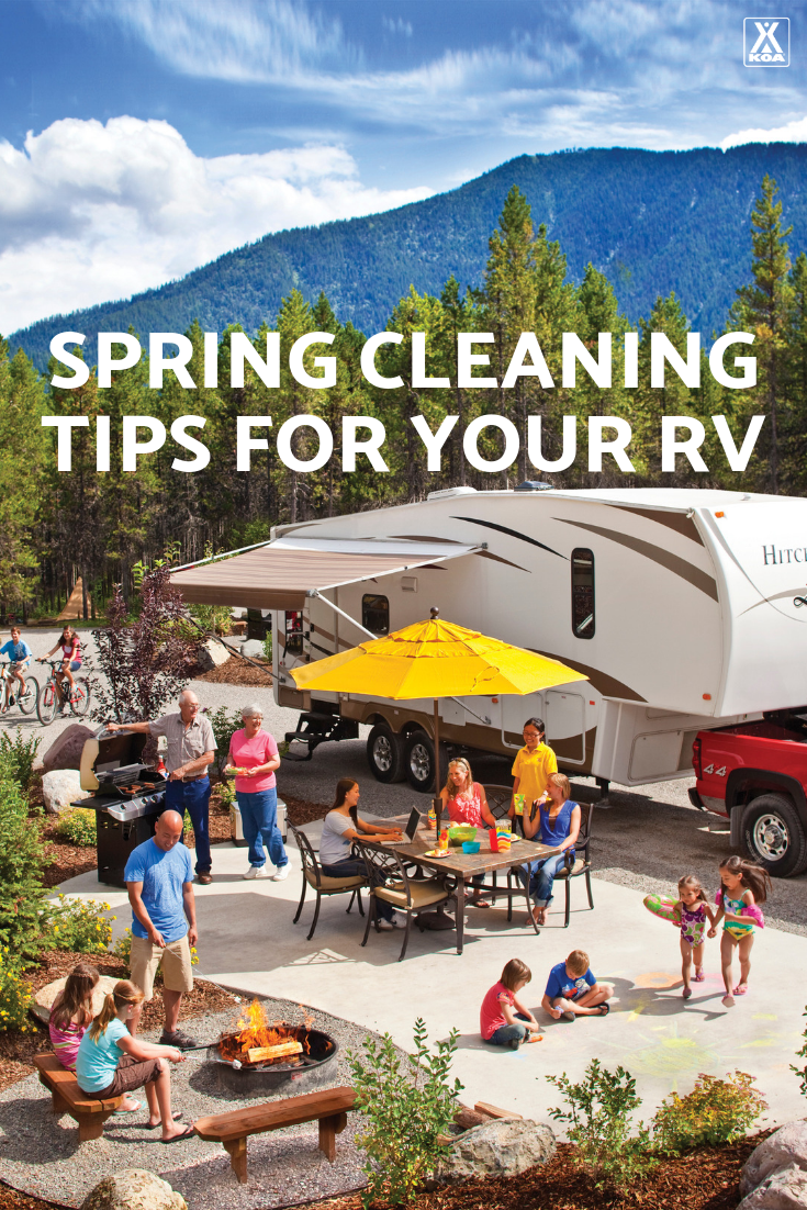 Don't keep the spring cleaning at home! Use these simple tips and tricks to spring clean your RV so you're ready to roll for a new season of camping.