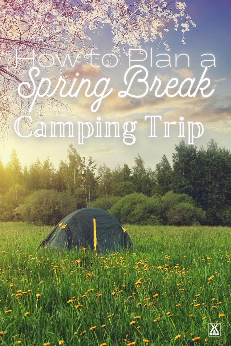 Thinking of getting away this spring break? Plan a spring break camping adventure to remember with these helpful tips.