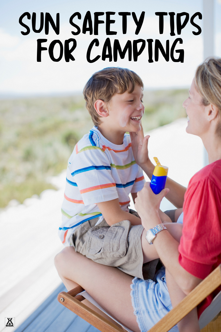 Be sure to protect yourself and your family from the harmful rays of the sun on your summer camping trip. Check out our six sun safety tips here!