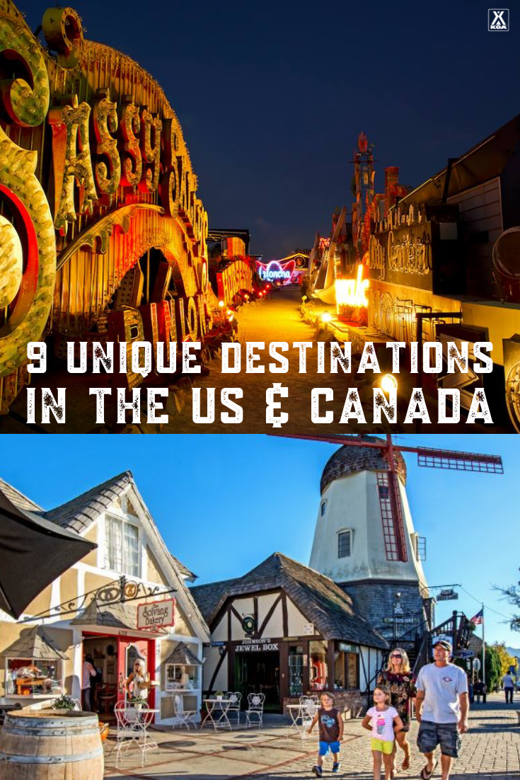 Looking for something new as you plan your next road trip? These unique destinations across the US and Canada are definitely worth checking out. Here are nine one-of-a-kind travel sites in North America.