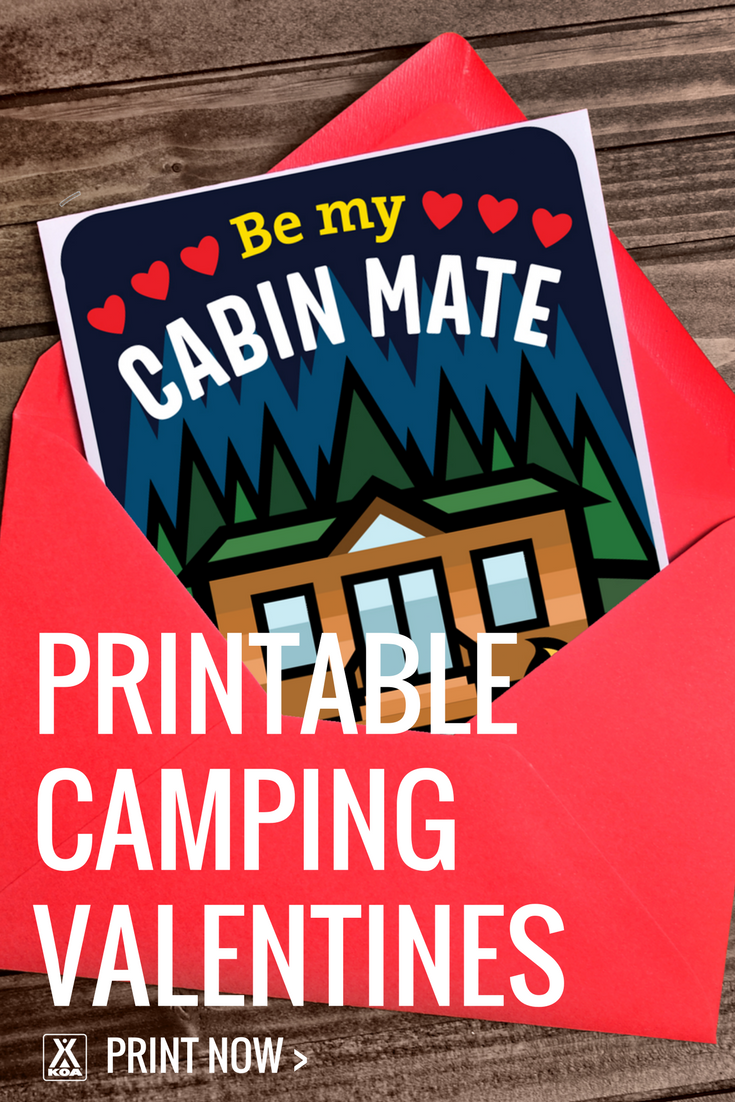 Print these cute camping valentines!