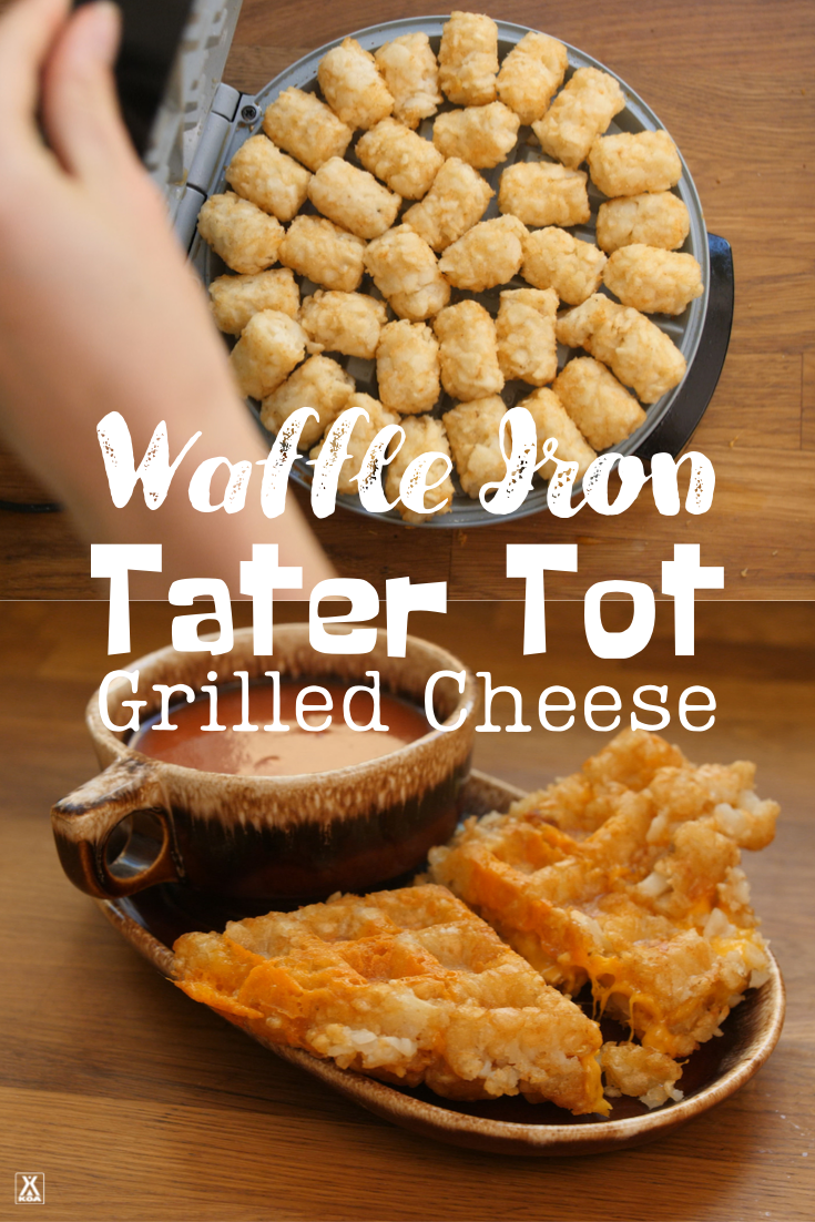 Making grilled cheese in your waffle iron? You bet! Learn how to use a waffle iron to make toasty grilled cheese and yummy cheesy tater tot sandwiches.