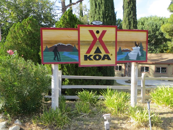 KOA Welcome Sign