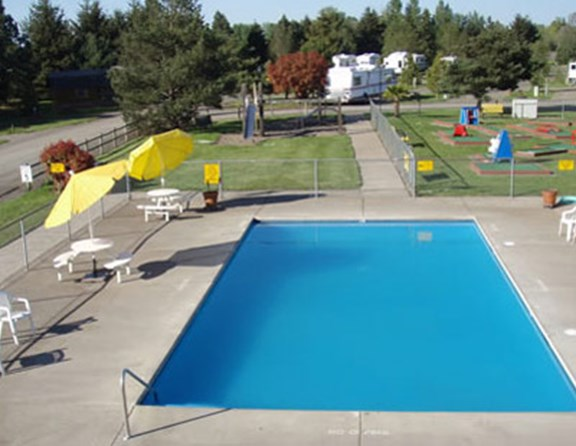 Our heated pool is open from May 21 through September 20