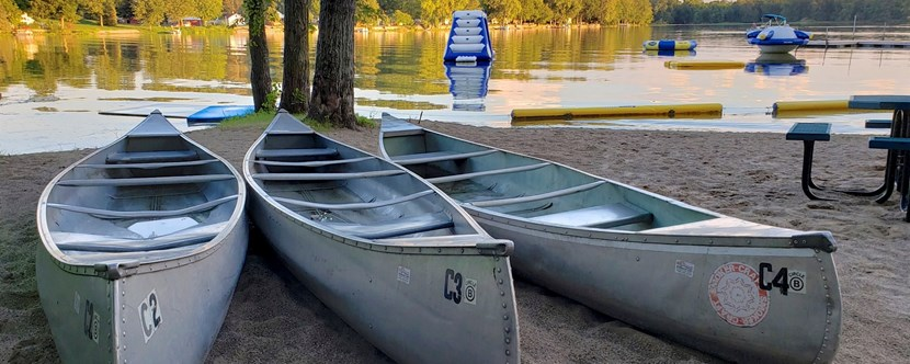 Rent a canoe at our marina and fish all day!