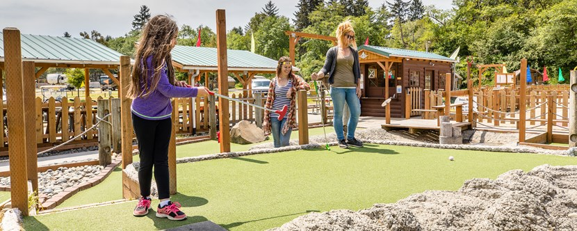 Enjoy our Pirates Cove Mini-Golf!