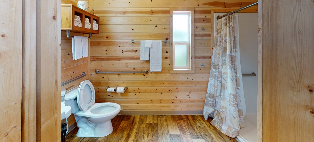 ADA Deluxe Cabin Bathroom