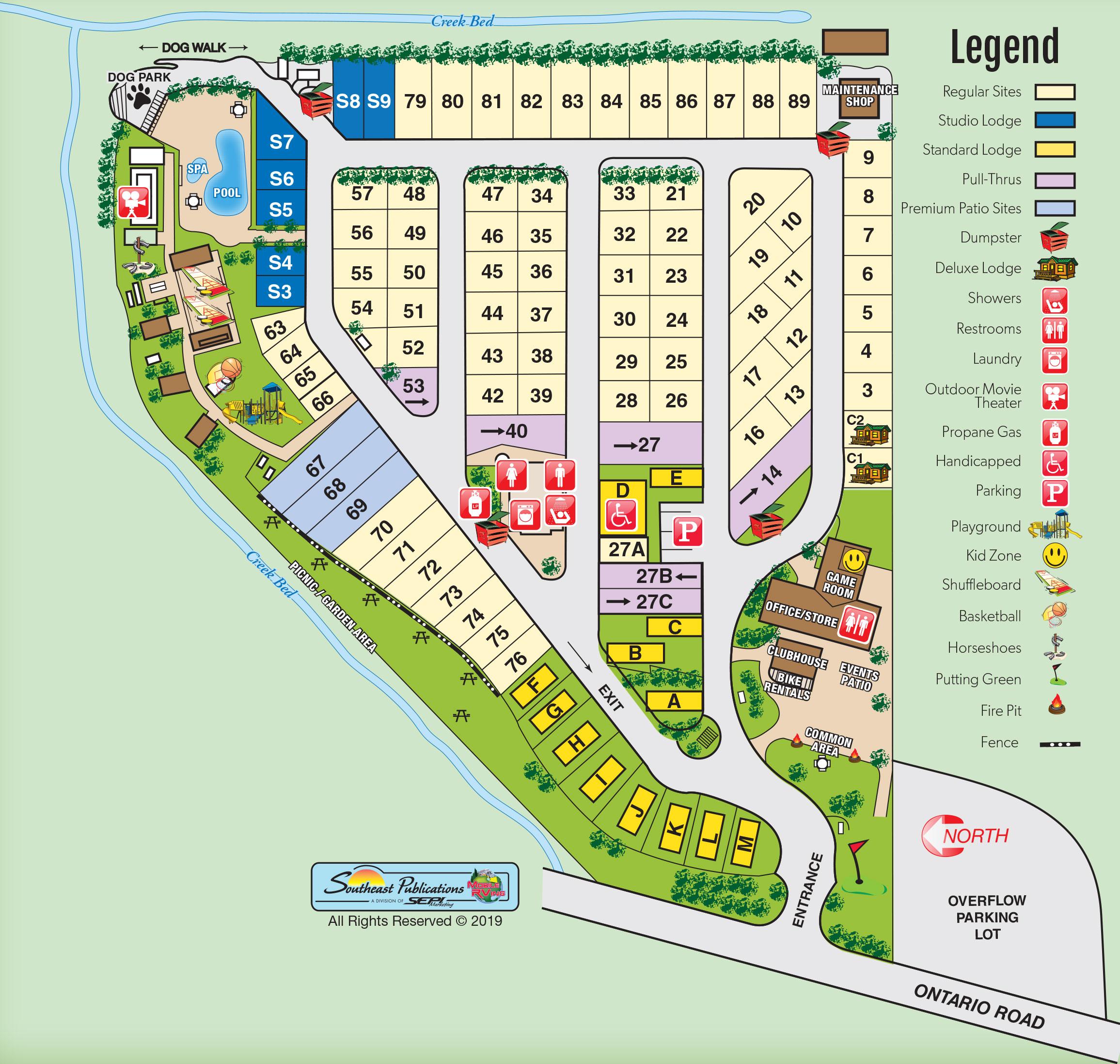 San Luis Obispo, California Campground | Avila / Pismo Beach KOA Cal Poly Slo Map on