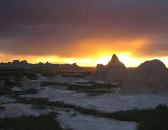 Yet another end to a perfect day in the badlands