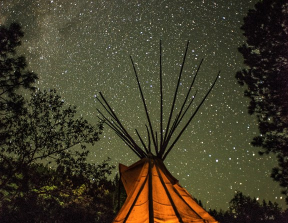 Make your own memories in an authentic tipi. Beautifully furnished with solar powered LED lighting, futons and more.
