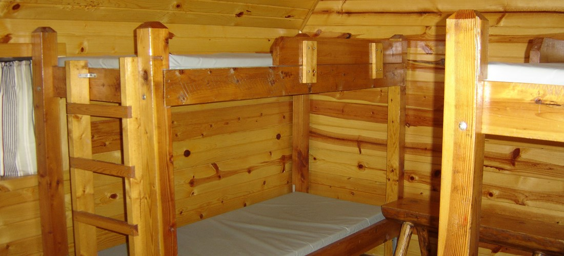 Camping Cabin sleeps 6 note two bunk bed sets straight