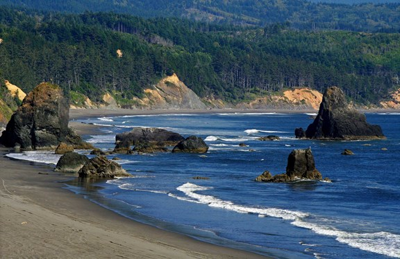 Port Orford beaches
