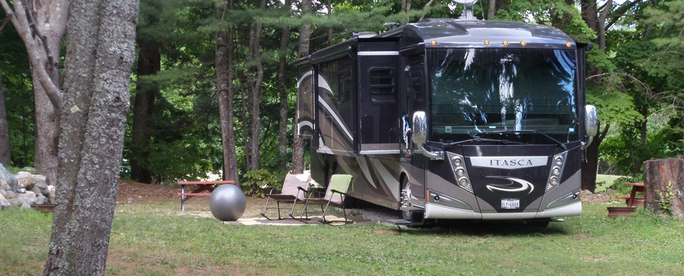 Big sites with privacy, can take a tent or a motor home
