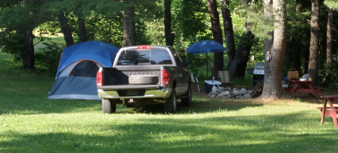 Lovely private tent sites