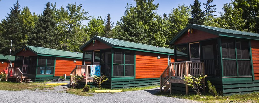 Deluxe Cabins provide all the conveniences of home