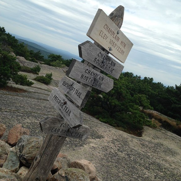 One of Acadia's many Hiking Trails